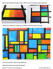 Load image into Gallery viewer, Free Download | Piet Mondrian Dab and Dot Art Project