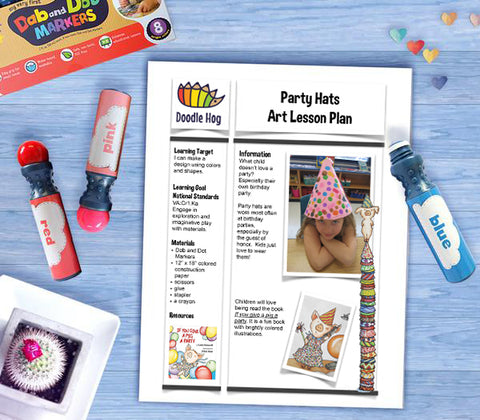 Free Download | Party Hats Art Lesson Plan