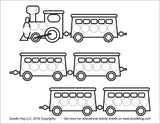Free Download | Cars, Trains and Trucks Dot Worksheets