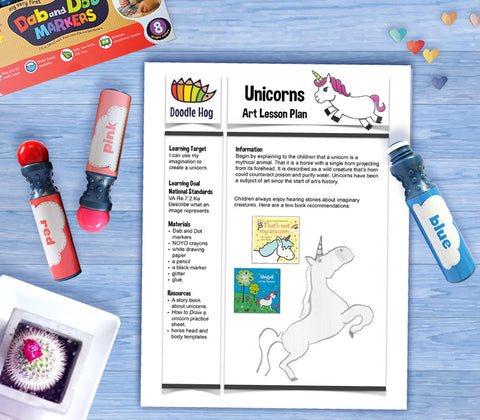 Free Download | Unicorns Art Lesson Plan