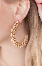 Load image into Gallery viewer, Beaded Statement Hoops