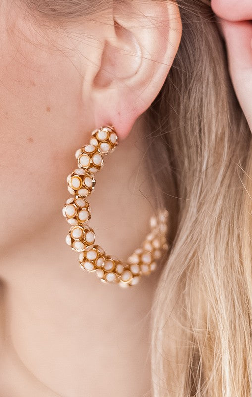 Beaded Statement Hoops