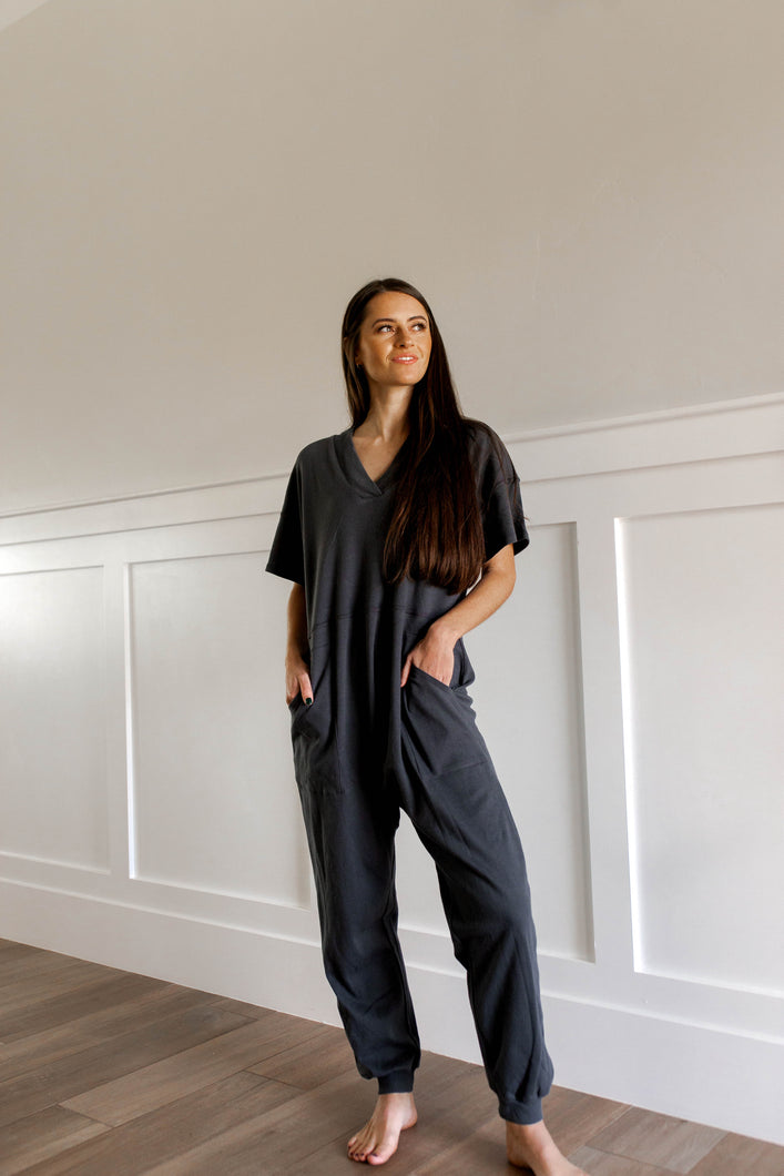 GNO Jumpsuit (Charcoal)