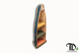 Actual Teak Wood Fishing Boat Shelf Unit - Shelving Display - Teak Desire