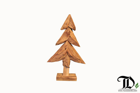 Teak Root Reclaimed Wood Christmas Tree Art Decor, Showpiece, Sculpture - Teak Desire