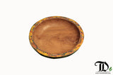 Teak Wood Boat Paint Colourful Plate - Decorative Table Display  - 30cm - Teak Desire
