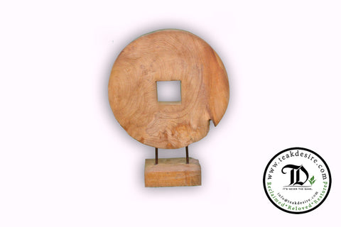 Round Deco with square / round hole - Teak Desire