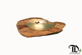 Gold Leaf / Silver Leaf Plated Bowl - Teak Desire