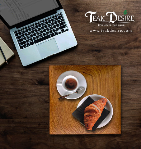 Wood Square Plate  - Reclaimed Teak Wood - Teak Desire