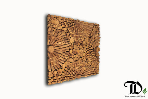 Driftwood - Wall Art Decor Geometric Handcrafted Display Artwork Showpiece - Teak Desire