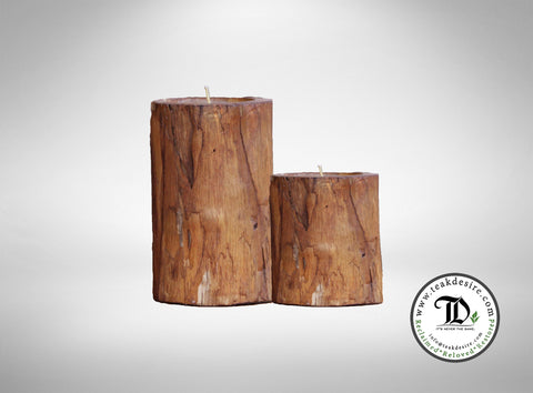 Candle Holder (Set of 2) - Teak Desire