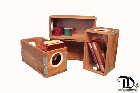 Teak Crates/ CD Boxes - EXCLUSIVE - Teak Desire
