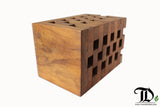 Jenga Stool/Side Table - Teak Desire