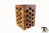 Teak Wood Jenga Stool/Side Table, Accent Table - Teak Desire