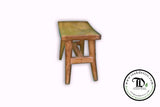 Small Step Wood Stool - Kid Sized Stool, Bathroom Spa Kitchen - Reclaimed Teak Wood - Teak Desire