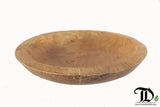 Viking Style Teak Wood Plate Tray 30cm dia -  Fruit Ornament Display Decorative - Teak Desire