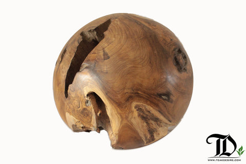Reclaimed Teak Wood Root Ball Display Decorative Showpiece - 30cm - Teak Desire