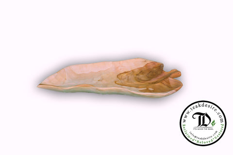 Teak Leaf Plate - Long Leaf - Reclaimed Teak wood - Teak Desire