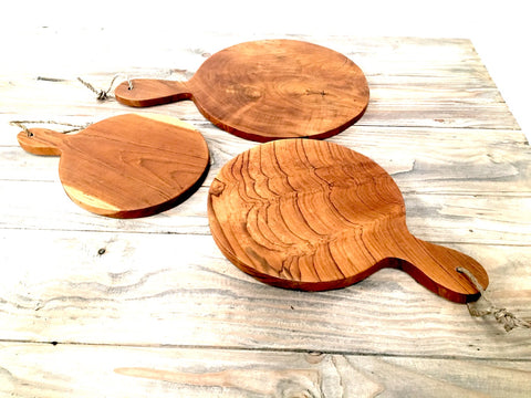 Teak Round Paddle Boards - Teak Desire