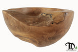 Teak Root Solid Wood Bowl 40-45cm dia - Planter Pot Fruit Decorative Display Pot - Teak Desire