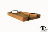 Rectangular Tray with Metal Handle - EXCLUSIVE - Teak Desire