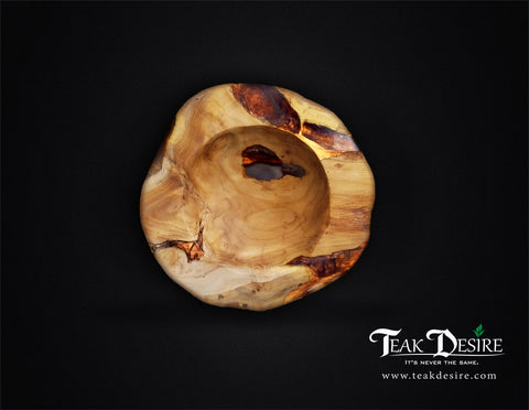 Teak Wood Epoxy Resin Filled Bowl - 30cm 40cm - Teak Desire