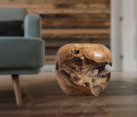Teak Root Ball Stool/ Coffee table - Solid Wood Side Table, Accent Table, End Table, Tea Coffee, Sofa Side Table - Teak Desire