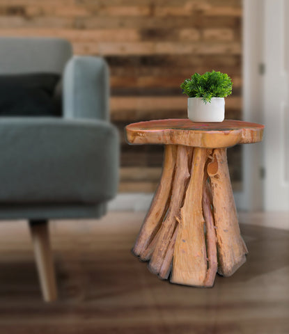 Teak Root Solid Wood Side Table, Accent Table, End Table, Tea Coffee, Sofa Side Table, Stool Bintang - Teak Desire