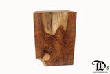Teak Root Solid Wood Cube Block Stool - Teak Desire