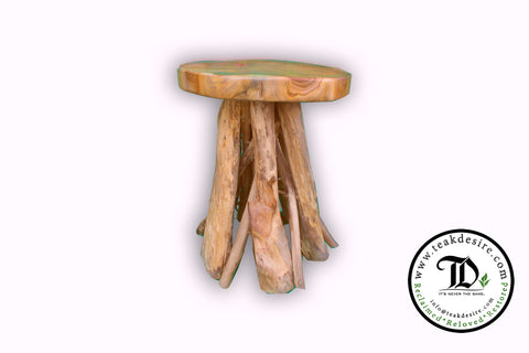 Bintang Stool/ Side Table - Reclaimed Teak Root - Teak Desire