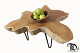 Teak Wood Root Slab Coffee/ Side Table with Hair Pin Legs - Teak Desire