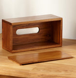 Teak Wood Facial Tissue Box Holder - Teak Desire