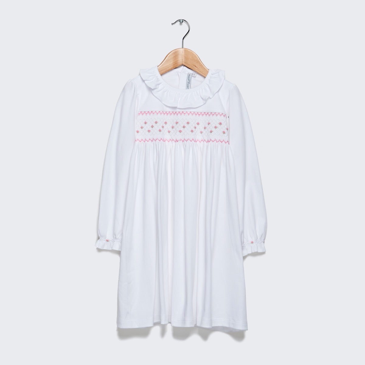 Long Sleeve Nightie - Pink smocking