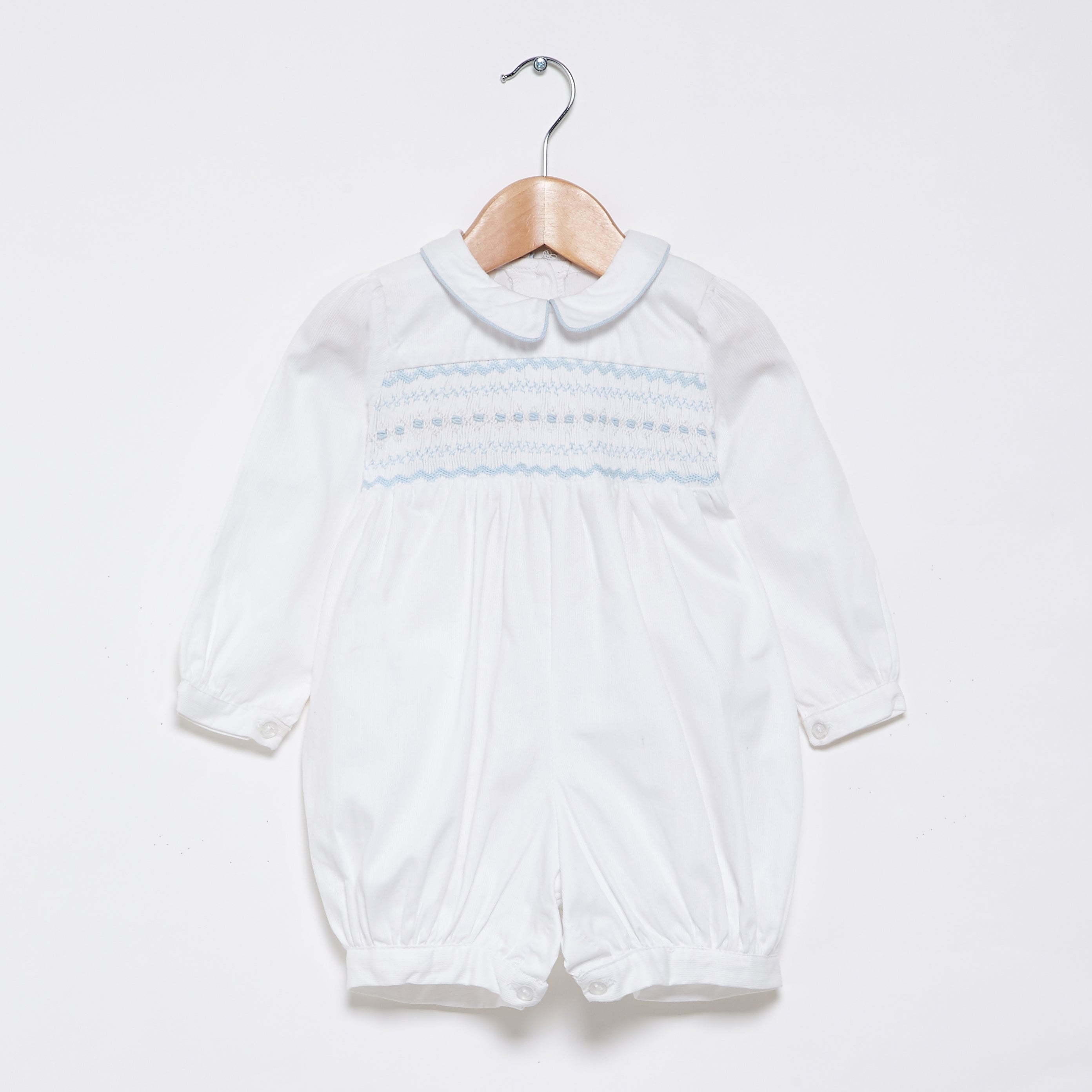 Long sleeved romper - Sky smocking