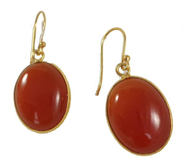 Beautiful drop earrings with Carnelian gemstone