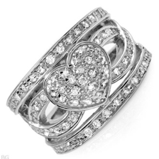 Dazzling silver ring