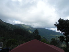 The Blue Mountain Peak under cloud cover – Taken from the Rasta Lodge