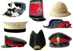 The history of hats : Various military hats - Urban Canairie
