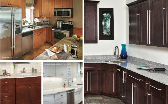 Wolf Dartmouth Cabinets, Different cabinet finishes, Shaker cabinets