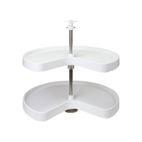 "24"" Diameter Base Cabinet Kidney Lazy Susan Set- Item # PLSK24, lazy susan, Hardware Resources, Select My Cabinetry, Kitchen cabinets, Philadelphia cabinets, Discount kitchen cabinets, Buy Kitchen Cabinets Online,"