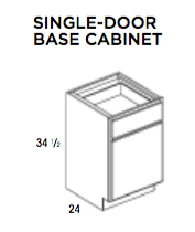 SINGLE-DOOR BASE CABINET- Saginaw, Base, Wolf, Select My Cabinetry, Kitchen cabinets, Philadelphia cabinets, Discount kitchen cabinets, Buy Kitchen Cabinets Online,