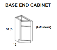 BASE END CABINET- Saginaw, Base, Wolf, Select My Cabinetry, Kitchen cabinets, Philadelphia cabinets, Discount kitchen cabinets, Buy Kitchen Cabinets Online,