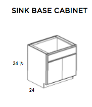 SINK BASE CABINET- Saginaw Kitchen