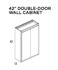 "42"" DOUBLE-DOOR WALL CABINET - Hudson, Wall, Wolf, Select My Cabinetry, Kitchen cabinets, Philadelphia cabinets, Discount kitchen cabinets, Buy Kitchen Cabinets Online,"