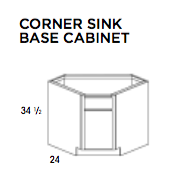 CORNER SINK BASE CABINET- Dartmouth