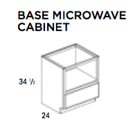 BASE MICROWAVE CABINET-York Kitchen