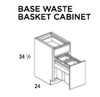 BASE WASTE BASKET CABINET-York, Base, Wolf, Select My Cabinetry, Kitchen cabinets, Philadelphia cabinets, Discount kitchen cabinets, Buy Kitchen Cabinets Online,