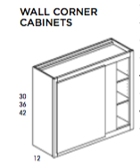 "30"" Wall Blind Corner Cabinet Dartmouth, Wall, Wolf, Select My Cabinetry, Kitchen cabinets, Philadelphia cabinets, Discount kitchen cabinets, Buy Kitchen Cabinets Online,"