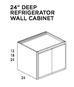 "24"" Deep Refrigerator Wall Cabinet- Dartmouth, Wall Cabinet, Wolf, Select My Cabinetry, Kitchen cabinets, Philadelphia cabinets, Discount kitchen cabinets, Buy Kitchen Cabinets Online,"