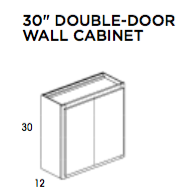 "30"" Double Door Wall Cabinet - Saginaw, Wall Cabinet, Wolf, Select My Cabinetry, Kitchen cabinets, Philadelphia cabinets, Discount kitchen cabinets, Buy Kitchen Cabinets Online,"